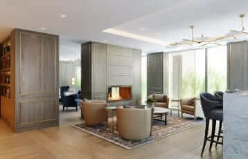 <p><strong>Residents' Lounge<br /> </strong>A luxurious sanctuary where you can enjoy a tea or coffee throughout the day and simply unwind and relax.</p>