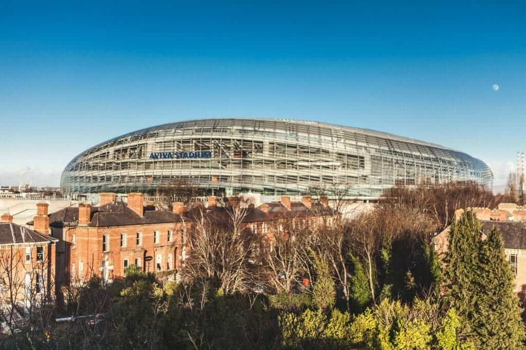 View of Aviva Stadium in Dublin 4 from the luxury apartments at Lansdowne Place