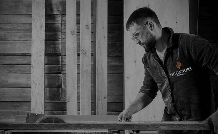 Cabinet Maker at work at O'Connors of Drumleck, supplier of our handcrafted kitchens
