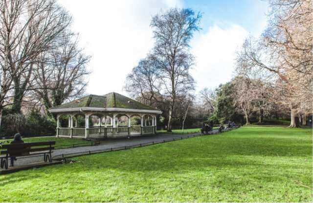 The famous bandstand in Herbert Park, Ballsbridge