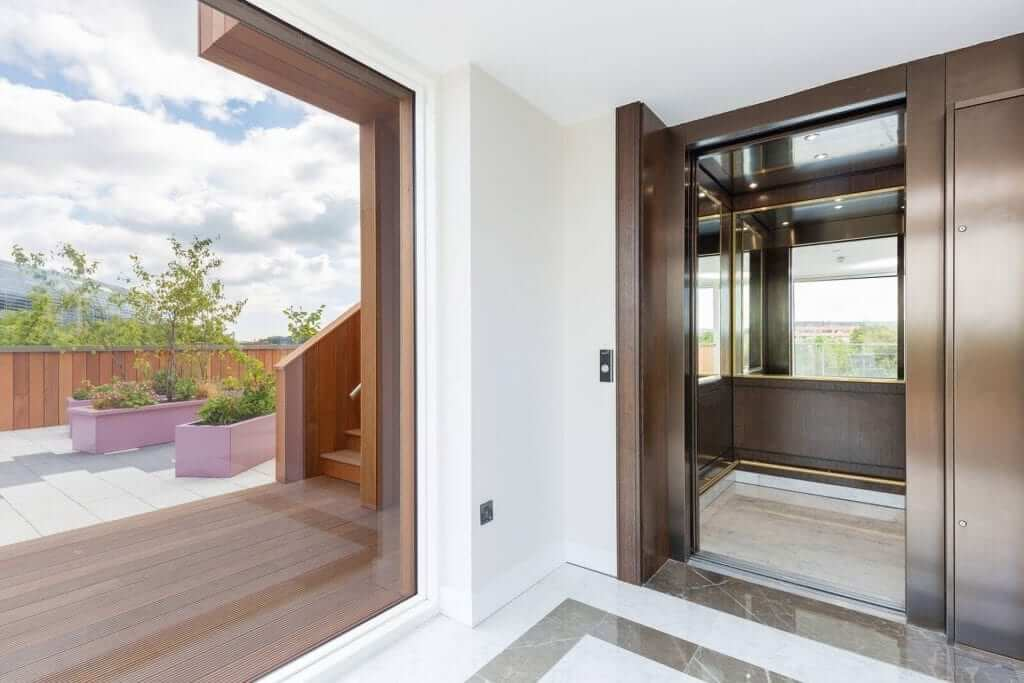 Lift Lobby leading onto Terrace of the Luxury Penthouse Apartment For Sale at Lansdowne Place