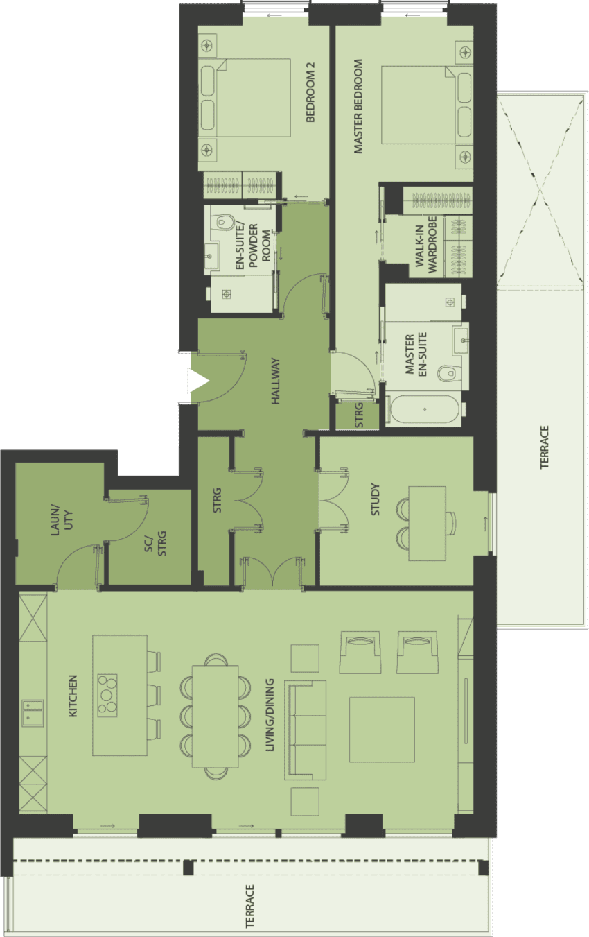 Lansdowne Place | burbidge-2f Floor Plan