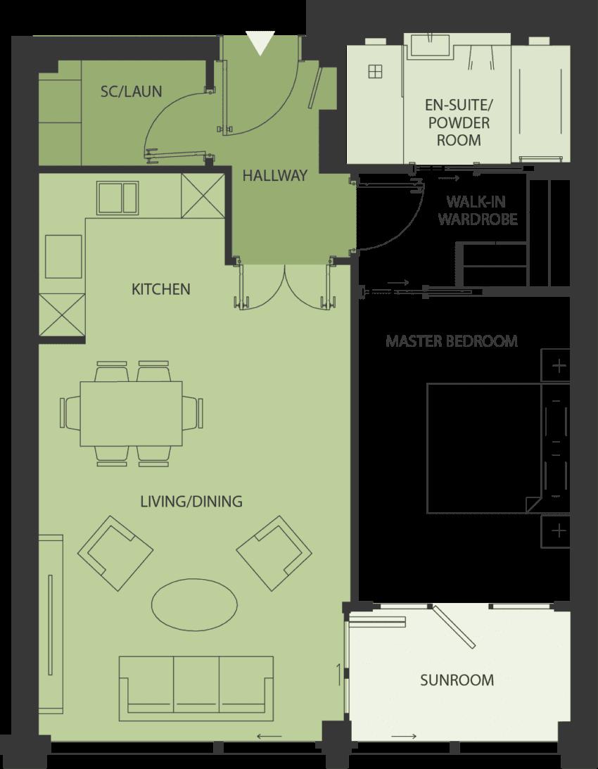 Lansdowne Place | nicholson-1a2 Floor Plan