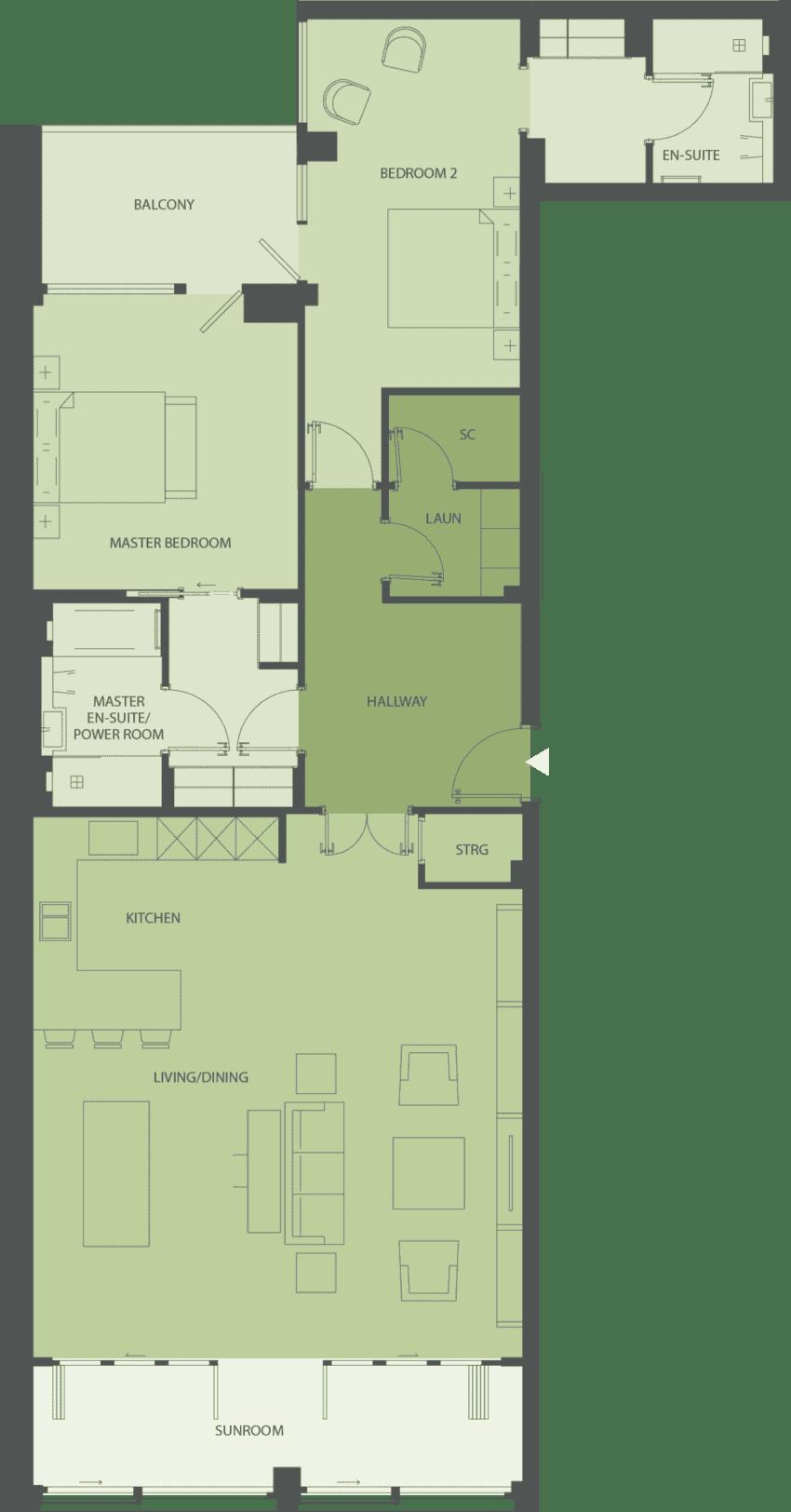 Lansdowne Place | nicholson-2g Floor Plan
