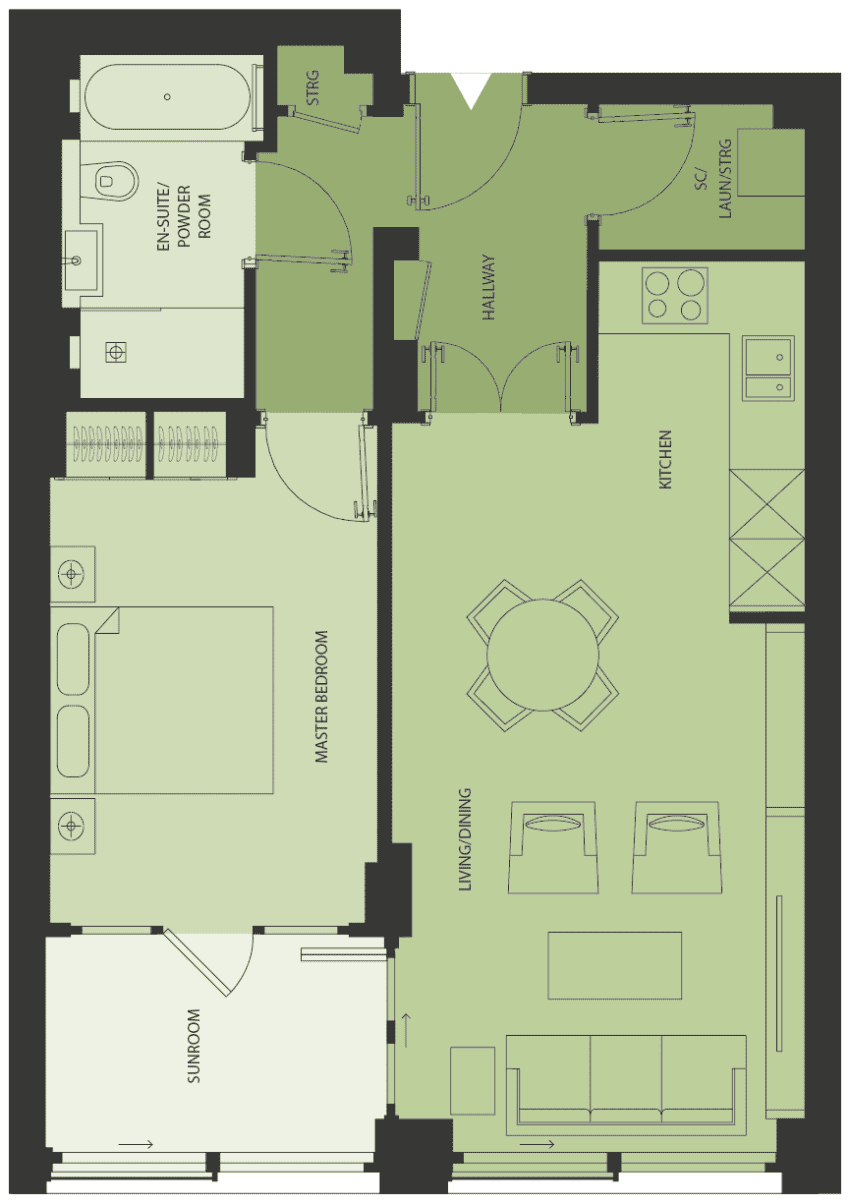 Lansdowne Place | templeton-1a Floor Plan