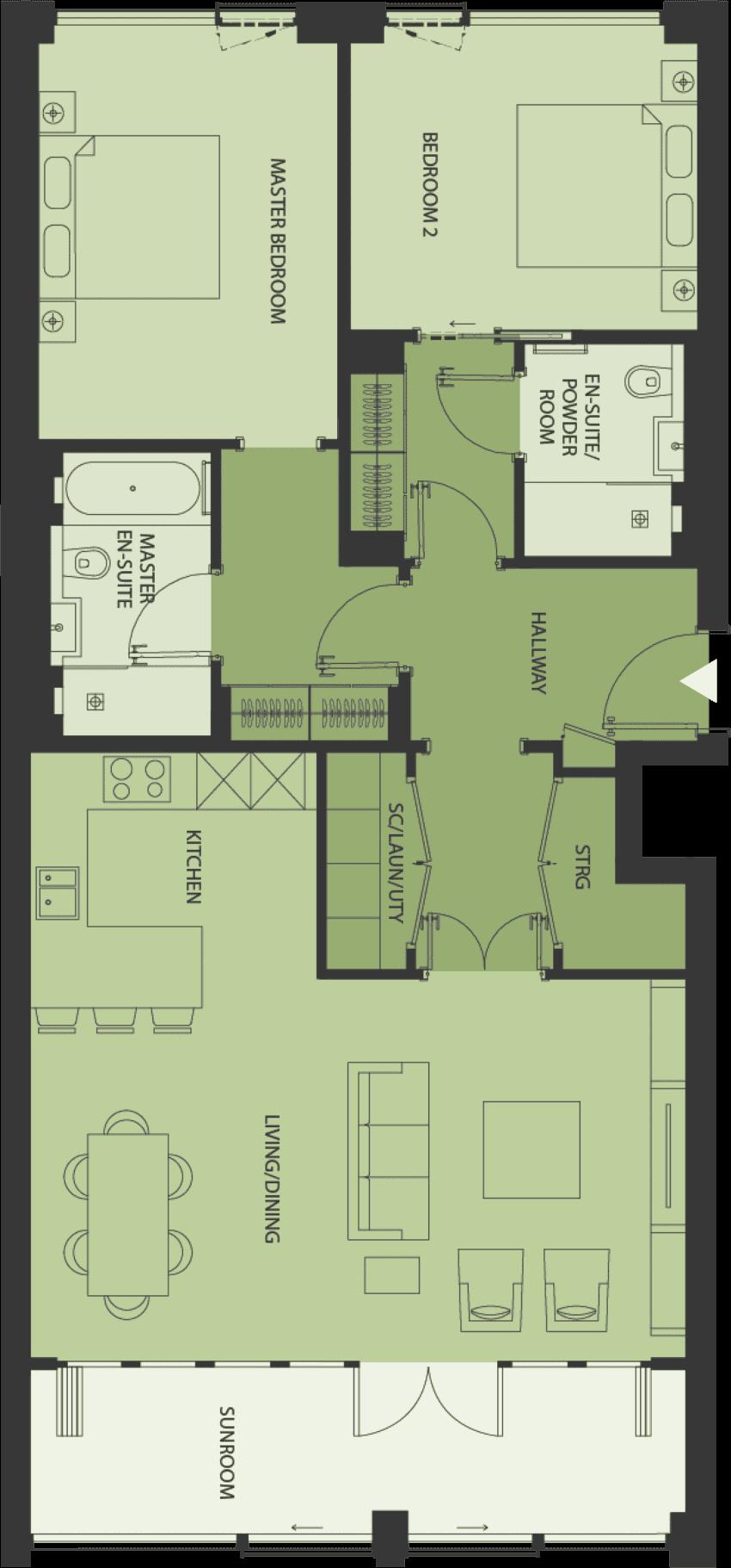 Lansdowne Place | type-2S Floor Plan