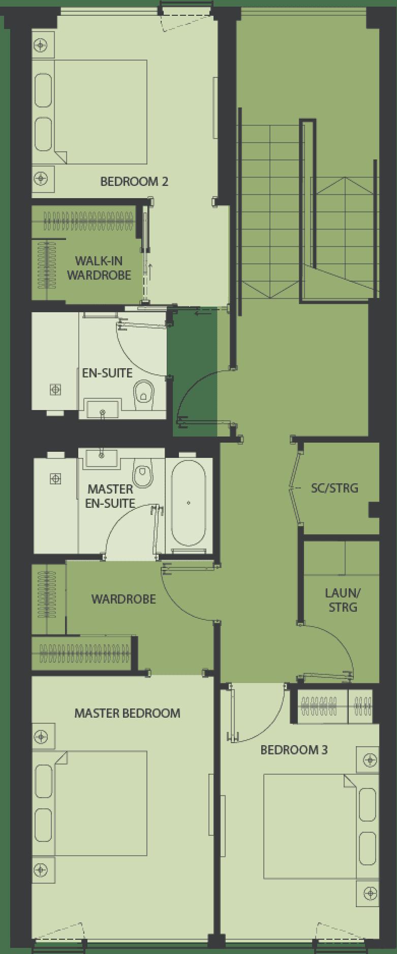 Lansdowne Place | type-da1-1 Floor Plan