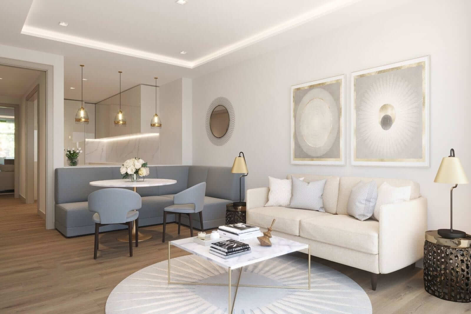 Living Room in Luxury Duplex Townhouse at Lansdowne Place