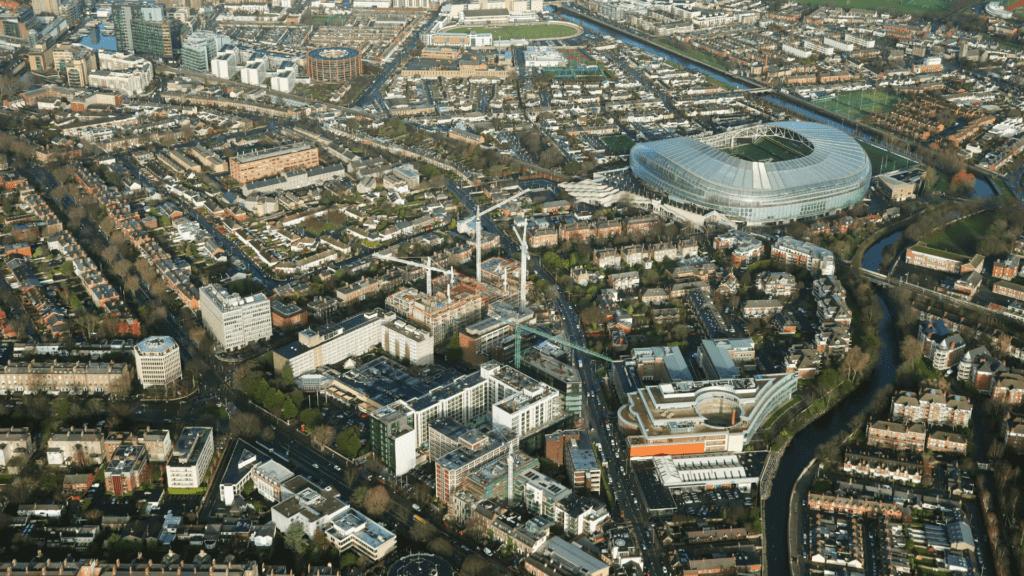 Aerial Image of Ballsbridge in Dublin 4