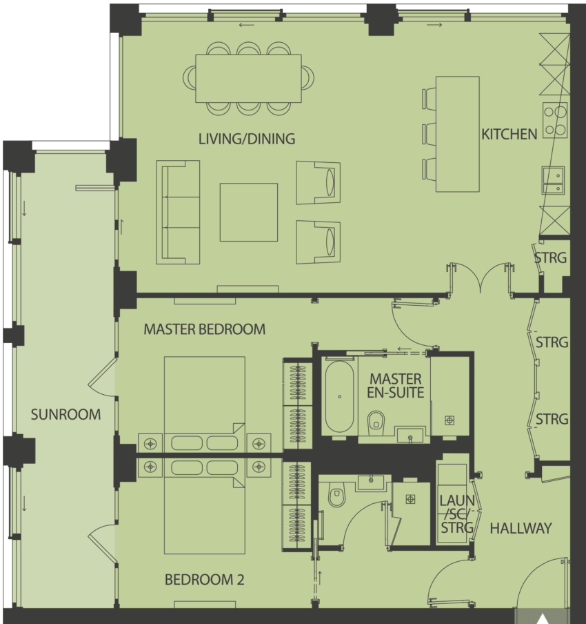 Lansdowne Place | burbidge-2A Floor Plan