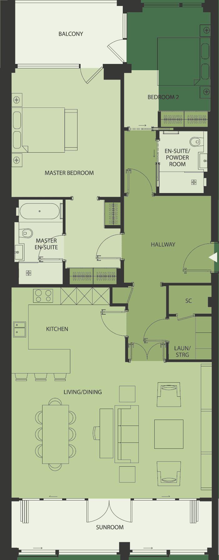 Lansdowne Place | lp-2J Floor Plan
