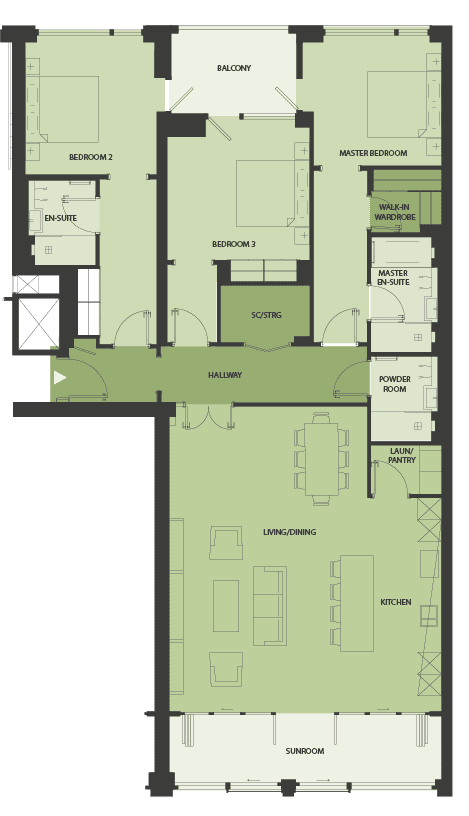 Lansdowne Place | nicholson-3q Floor Plan