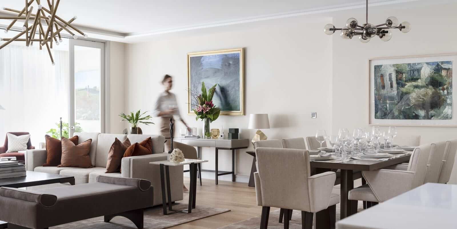 Lansdowne Place | Living Dining with model 2C unit