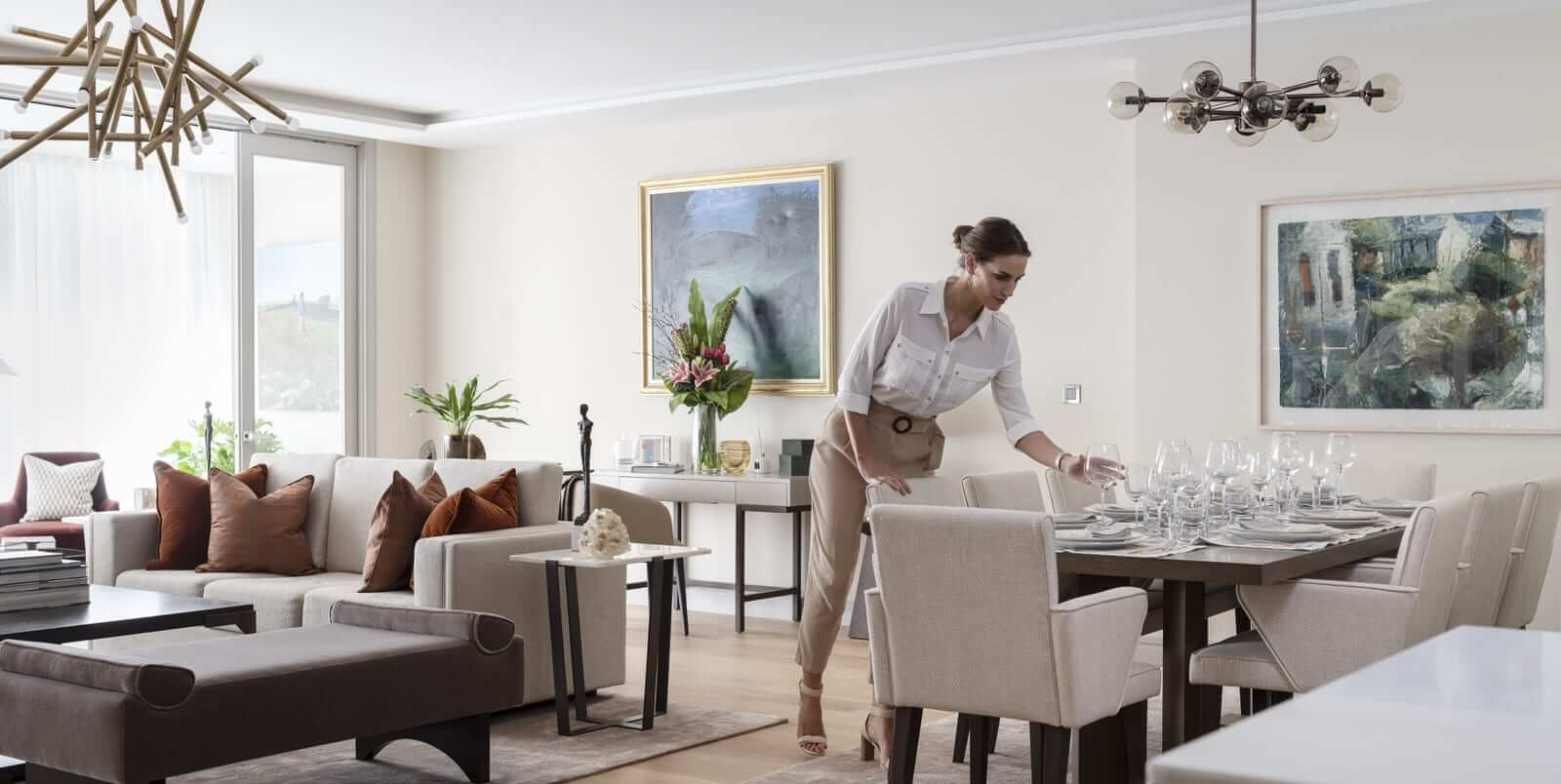 Lansdowne Place | Living Dining with model