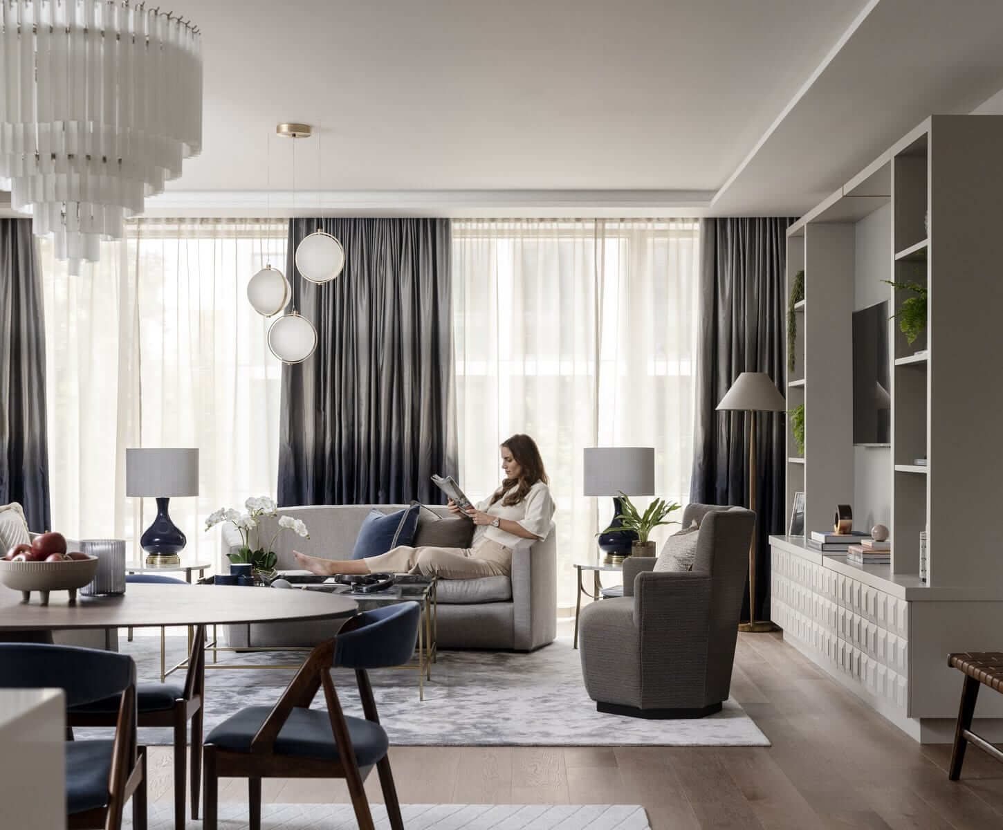 Lansdowne Place | Living room with model 2B unit