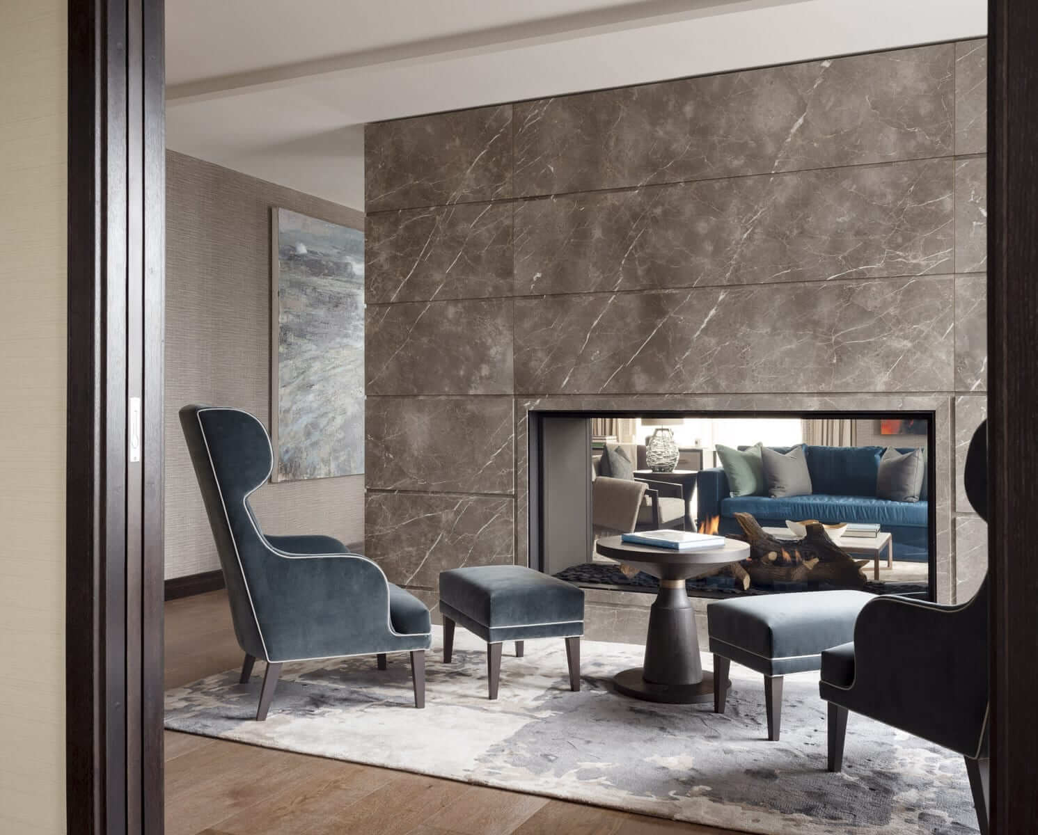 Lansdowne Place | Penthouse Living Room Fireplace