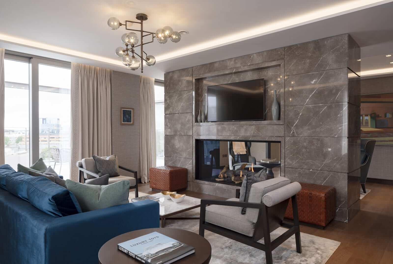 Lansdowne Place | Penthouse Living Room